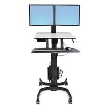 WorkFit-C Sit-Stand Workstation 2 Screen Desk Stand