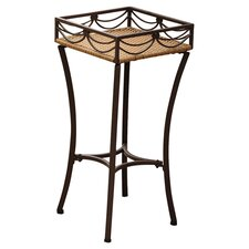 Valencia Outdoor Wicker Resin Square Plant Stand