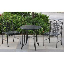 Mandalay Iron 3 Piece Patio Bistro Set