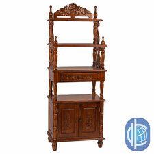 Windsor Hand Carved Victorian Wood 6 Bookcase