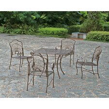 Sun Ray 5-Piece Iron Patio Dining Set