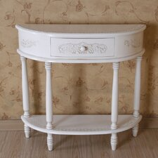 Windsor 2-Tier Antique White Wood Console Table