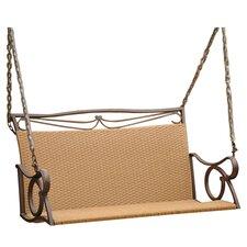 Valencia Wicker Resing Porch Swing