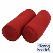 Needles Solid Twill Bolster Pillow (Set of 2)
