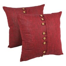 Nine Button Throw Pillow (Set of 2)