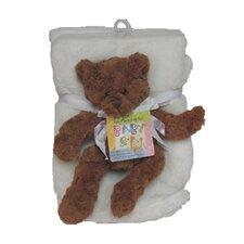 Plush Novelty Bear Crib Blanket
