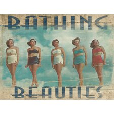 Coastal Bathing Beauties Wrapped Photographic Print on Canvas