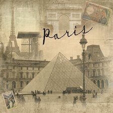 World Traveler Paris VintagePhotographic Print on Wrapped Canvas
