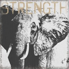 Animal Advice Strength Elephant Graphic Art on Wrapped Canvas