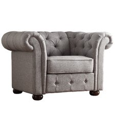 Carthusia Tufted Button Arm Chair