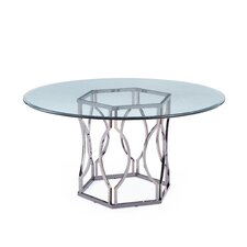 Carlotta Round Glass Dining Table