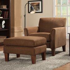 Warner Microfiber Arm Chair and Ottoman