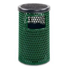 Ultra 5-Gal Expanded Steel Ash/Trash Receptacle