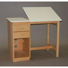 Split Top Pedestal Computer Desk