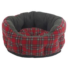 Verona Snuggle Bed in Red and Green
