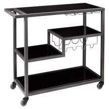 Zephs Serving Cart with Glass Top