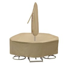 Round Table and Chair Cover with Umbrella Hole