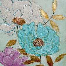 Floral Series 3 Original Painting Wrapped on Canvas