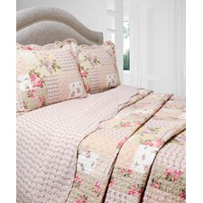 Vintage 3 Piece Reversible Quilt Set in Rosemary
