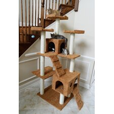 "74"" Classic Cat Tree in Brown"