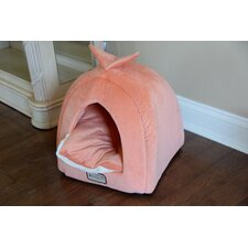 Cat Bed in Orange and Ivory