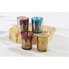 Indian Jewel Henna Glass Votive (Set of 12)