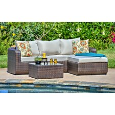 Luise 2 Piece Lounge Seating Group with Cushions