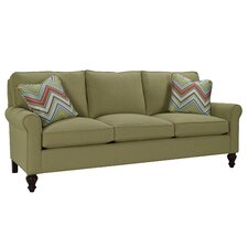 Curved Arm Three Loose Pillow Back Sofa