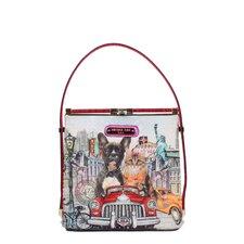 City Drive Print Shoulder Bag