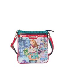 Tulip Girl Print Crossbody Bag