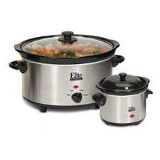 Cuisine 5 Qt. Slow Cooker with Mini Dipper