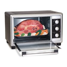 Elite Cuisine 6-Slice Toaster Oven Broiler with Rotisserie
