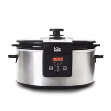 Platinum 6-Quart Stainless Steel Programmable Slow Cooker