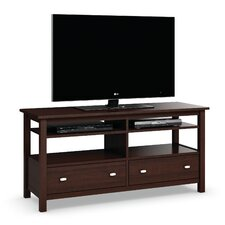 Carabus Entertainment Console With Two Drawers and Two Adjustable Shelves