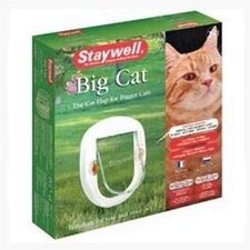 White Four-Way Lock Big Cat Flap
