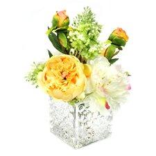 Garden Floral in Glass Vase