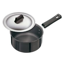 Hard Anodised 2.38-qt. Saucepans with Steel Lid