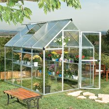 Hybrid 6 Ft. W x 8 Ft. D Plastic Polycarbonate Greenhouse