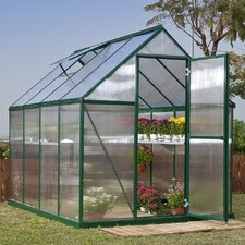 Nature Twin Wall 6 Ft. W x 8 Ft. D Polycarbonate Greenhouse
