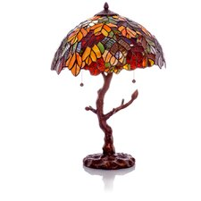 "Stained Glass Marvel 24.5"" H Table Lamp with Bowl Shade"