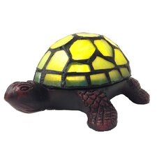 "Stained Glass LED Wireless Turtle Accent 2.5"" H Table Lamp with Novelty Shade"