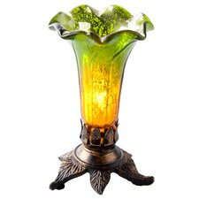 """Mercury Hand-blown Lily 7.5"""" H Table Lamp with Bell Shade"""