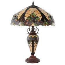 """Halston Double Lit 24.5"""" H Table Lamp"""