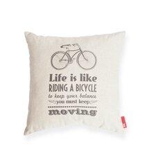 Luxury Bicycle Life Cotton Throw Pillow