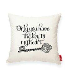 Luxury Vintage Key Cotton Throw Pillow