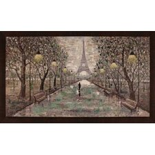 Walk To Eiffel Tower by Anastasia C. Framed Painting