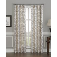 Damask Stripe Single Curtain Panel