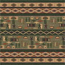 Pastiche Wide Ruins Autumn Forest Green Area Rug
