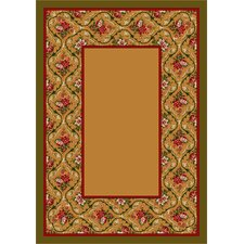 Design Center Maize Bouquet Lace Area Rug