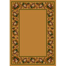 Design Center Maize Floral Lace Area Rug